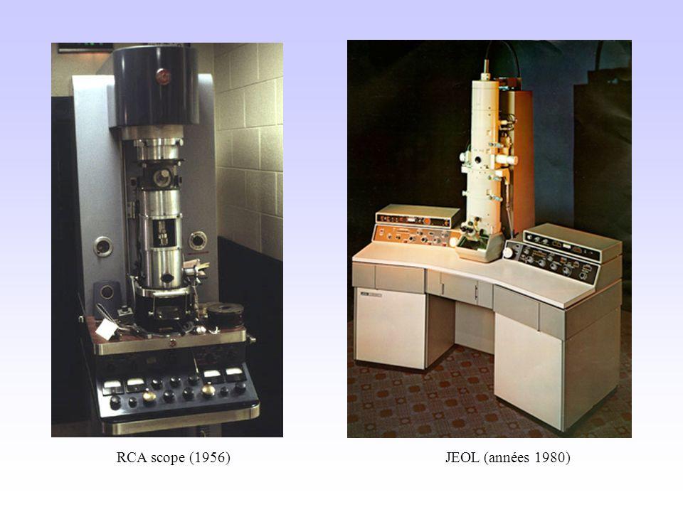 RCA scope (1956) JEOL (années 1980)