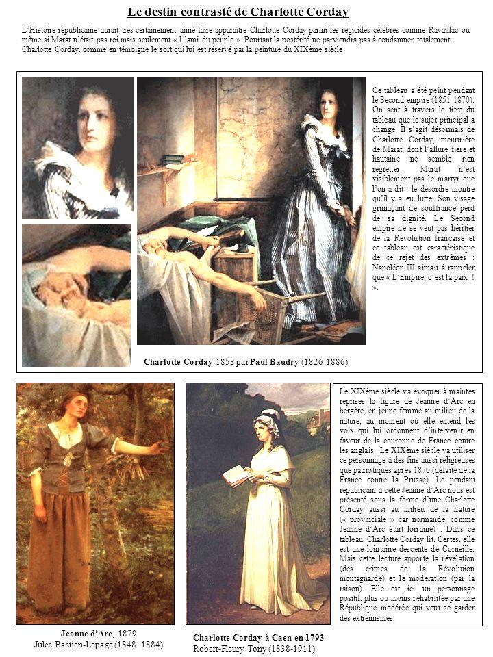 Charlotte Corday 1858 par Paul Baudry (1826-1886) Ce tableau a été peint pendant le Second empire (1851-1870).