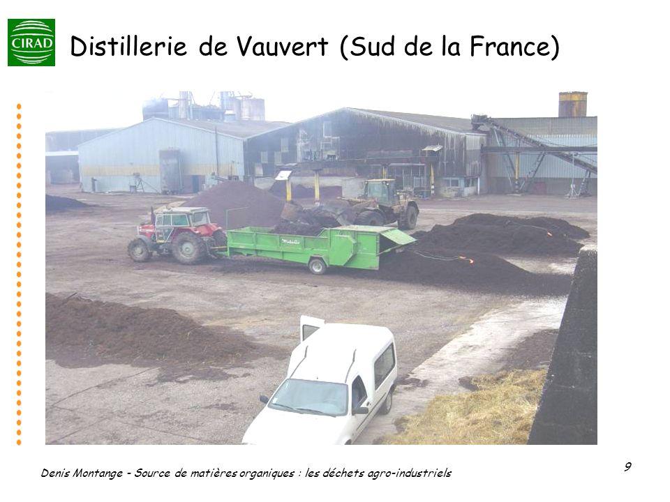 Denis Montange - Source de matières organiques : les déchets agro-industriels 9 Distillerie de Vauvert (Sud de la France)