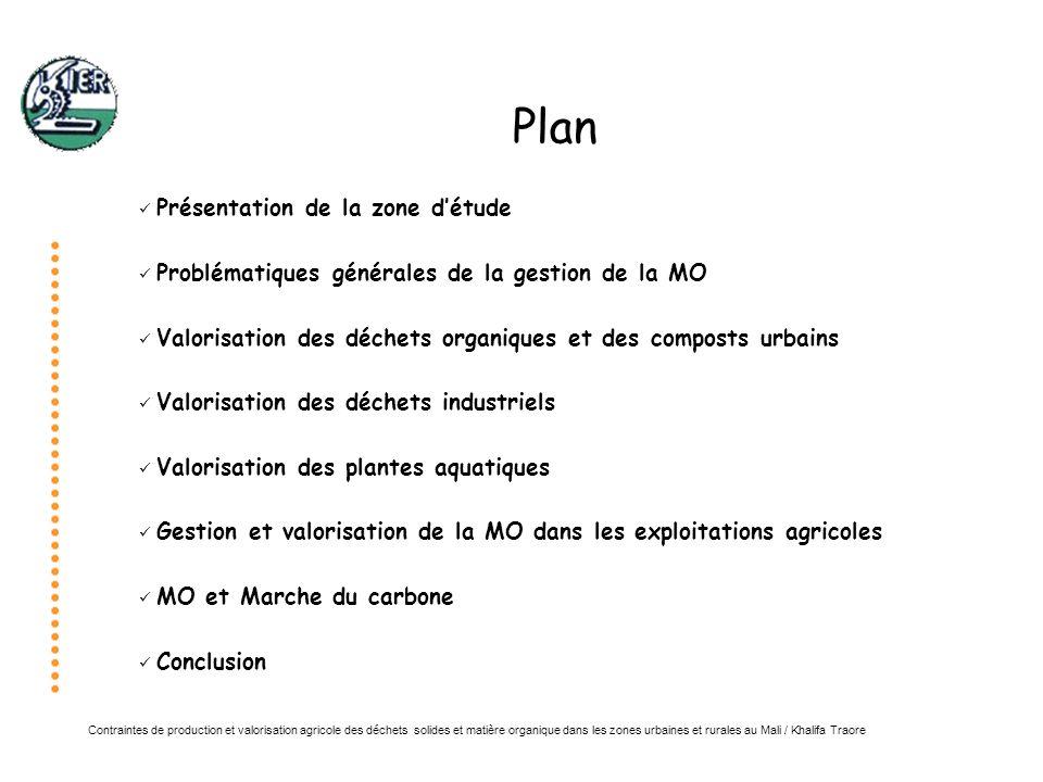 Contraintes de production et valorisation agricole des déchets solides et matière organique dans les zones urbaines et rurales au Mali / Khalifa Traore Valorisation des déchets organiques et des composts urbains Fertilisation en maraîchage (laitue, carottes)