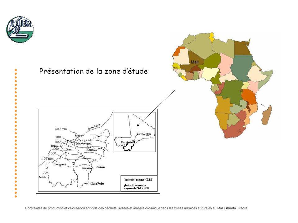 Contraintes de production et valorisation agricole des déchets solides et matière organique dans les zones urbaines et rurales au Mali / Khalifa Traore Conclusion: La gestion de la matière organique occupe une place centrale tant pour la durabilité des systèmes de production que pour la santé des populations (environnement immédiat, pollutions des eaux, proliférations des parasites…)