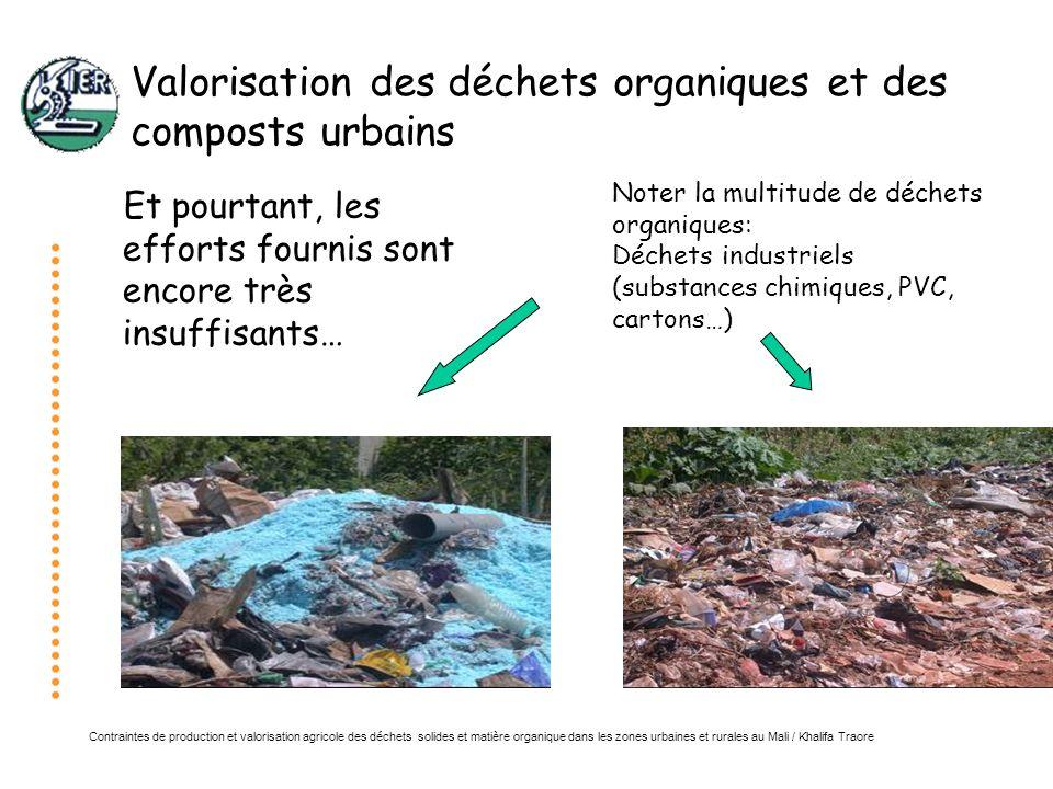 Contraintes de production et valorisation agricole des déchets solides et matière organique dans les zones urbaines et rurales au Mali / Khalifa Traore Gestion de la MO dans les exploitations agricoles Utilisation par les femmes de terreau issu dun mélange de fumier de parc et de sable comme pépinière de tomates à Konobougou (Siguidolo)