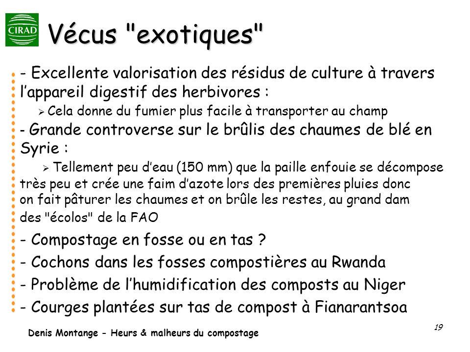 Denis Montange - Heurs & malheurs du compostage 19 Vécus