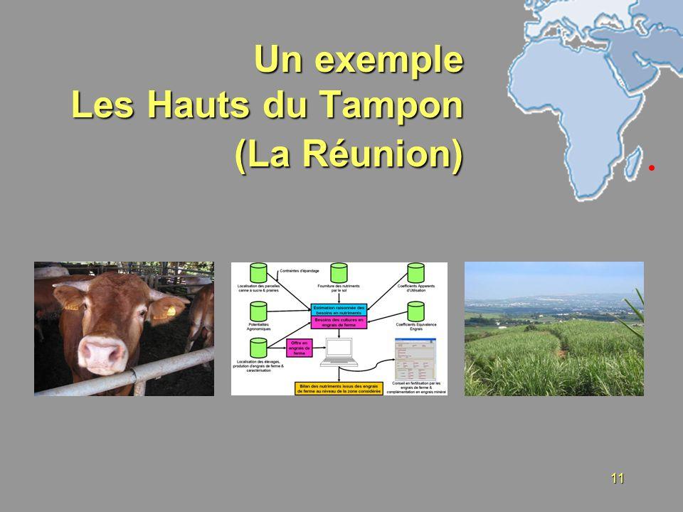 11 Un exemple Les Hauts du Tampon (La Réunion)