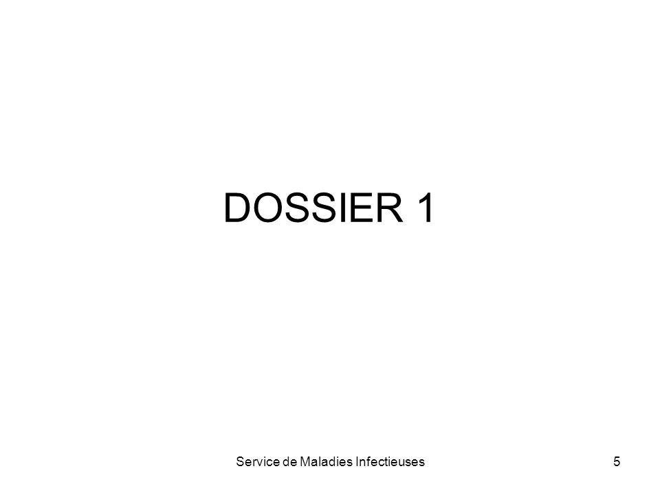 Service de Maladies Infectieuses5 DOSSIER 1