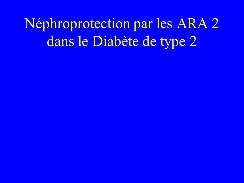 Néphroprotection par les ARA 2 dans le Diabète de type 2