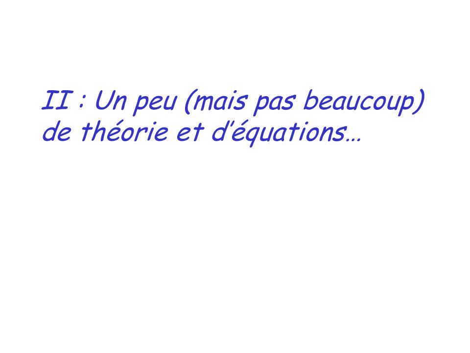 II : Un peu (mais pas beaucoup) de théorie et déquations…