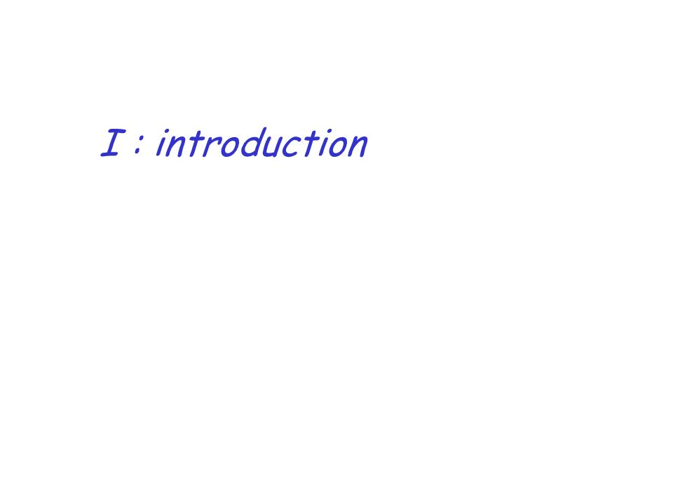 I : introduction