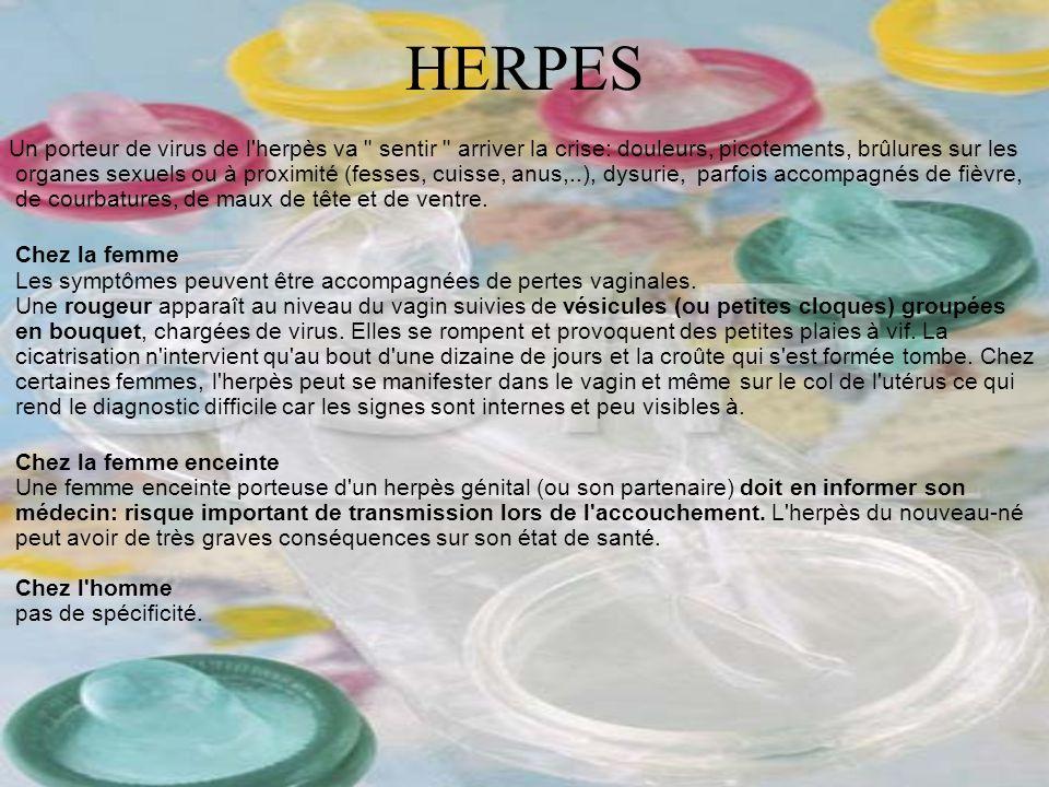 HERPES Un porteur de virus de l'herpès va