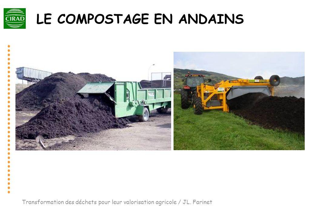LE COMPOSTAGE EN ANDAINS Transformation des déchets pour leur valorisation agricole / JL. Farinet