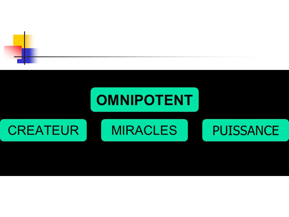 OMNIPOTENT CREATEURMIRACLES PUISSANCE