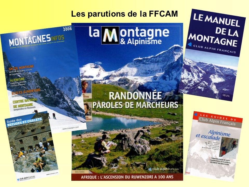 Les parutions de la FFCAM