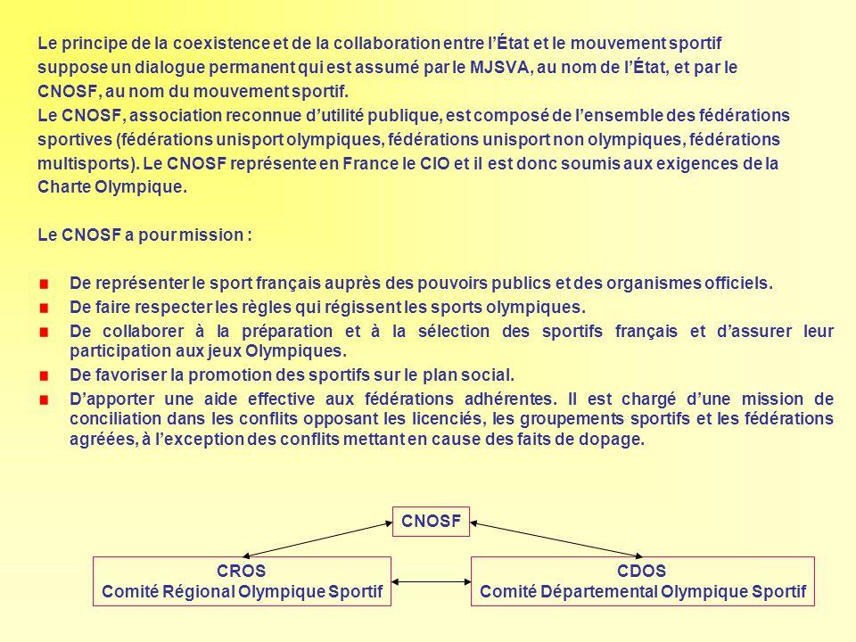 Le principe de la coexistence et de la collaboration entre lÉtat et le mouvement sportif suppose un dialogue permanent qui est assumé par le MJSVA, au