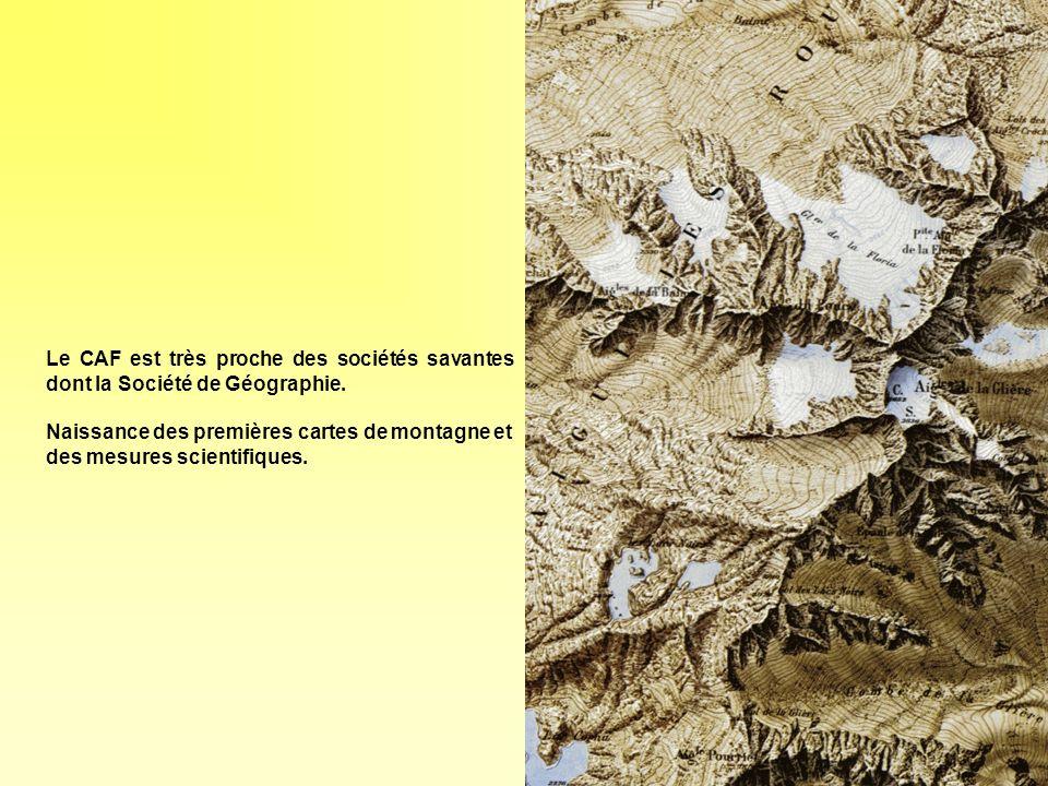 Construction des refuges Née de la volonté de simplifier le déroulement des courses; il est symptomatique que le premier refuge des Alpes ait été implanté sur le trajet de la première course classique: il sagit du refuge des Grands Mulets, sur litinéraire dascension du Mont Blanc.