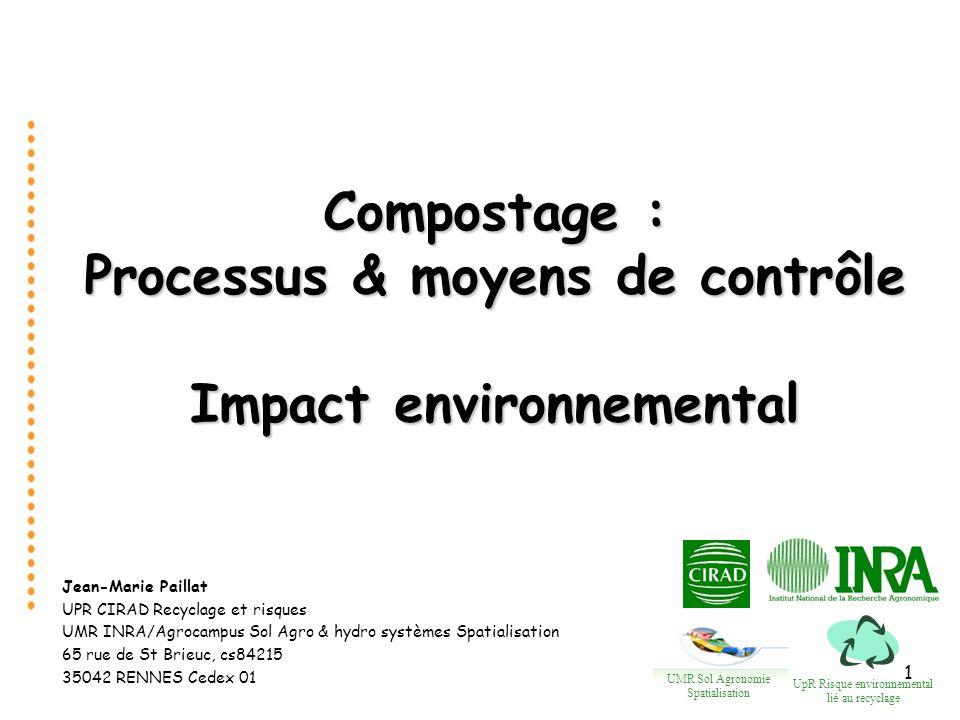 2 Introduction Processus microbiologiques et physiques déterminant les émissions gazeuses Facteurs de contrôle Modélisation des émissions gazeuses Plan