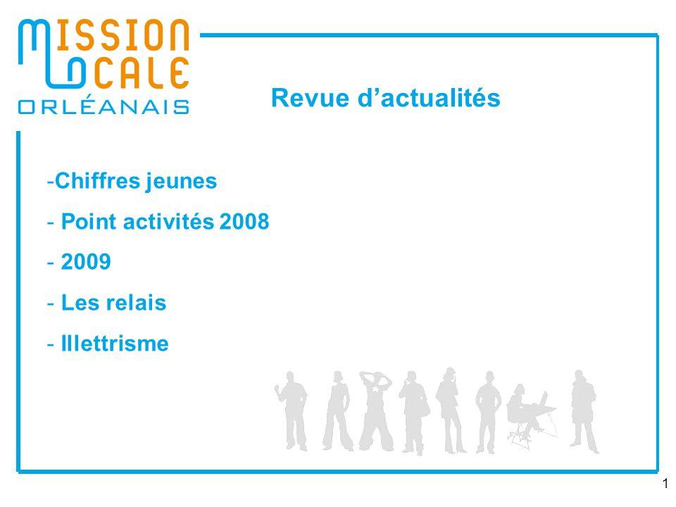 1 -Chiffres jeunes - Point activités 2008 - 2009 - Les relais - Illettrisme Revue dactualités