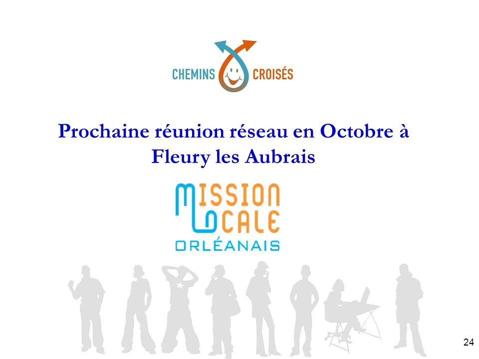 24 Prochaine réunion réseau en Octobre à Fleury les Aubrais