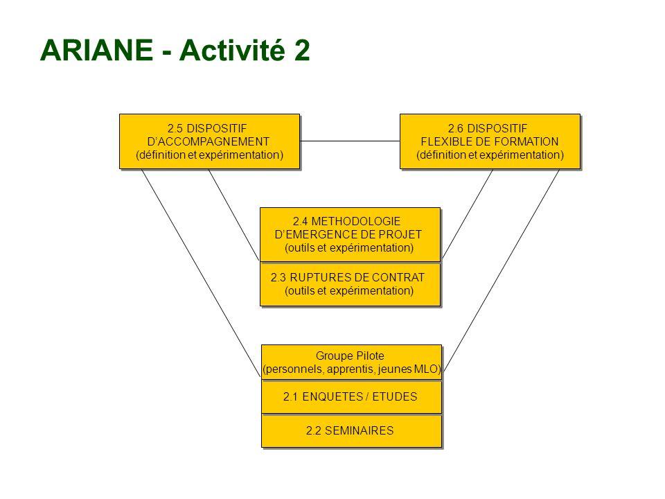 ARIANE - Le fonctionnement Collaboration / Coréalisation : « Faire ensemble » Coordination : Pilotage par le responsable de la sous-activité Coproduction Copilotage du projet Communication : Informer, interagir, créer de la valeur Communication « bâtisseuse »