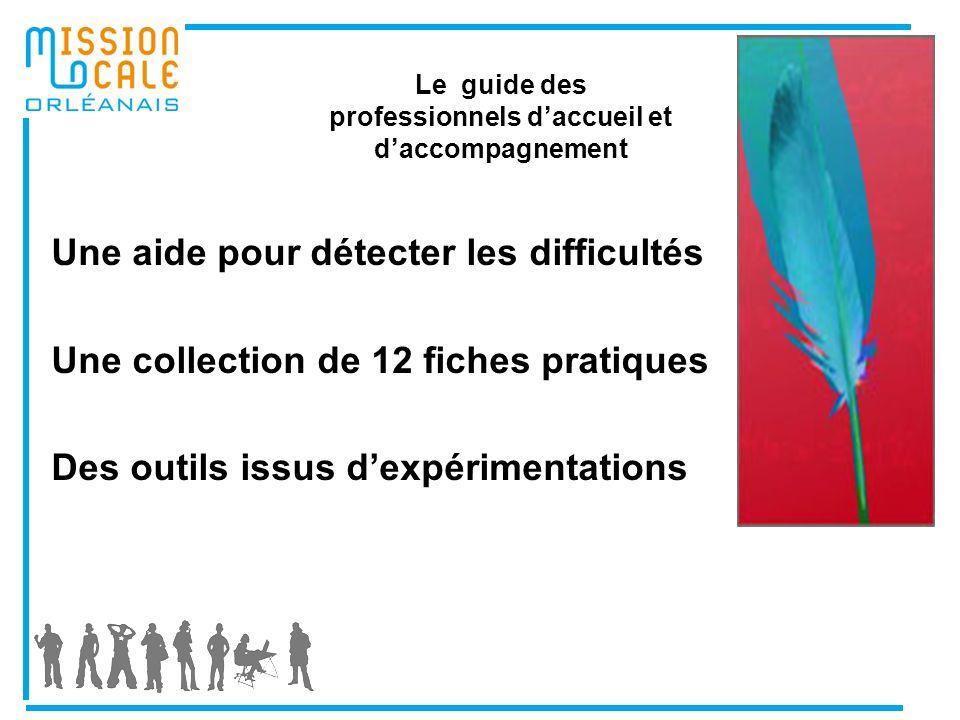 Le guide des professionnels daccueil et daccompagnement Une aide pour détecter les difficultés Une collection de 12 fiches pratiques Des outils issus dexpérimentations