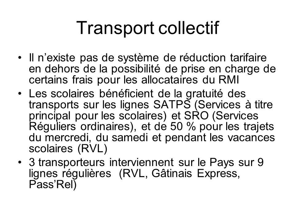 Transport collectif Il nexiste pas de système de réduction tarifaire en dehors de la possibilité de prise en charge de certains frais pour les allocat