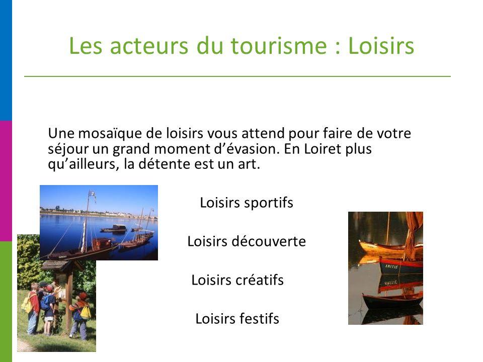Les acteurs du tourisme : Loisirs Une mosaïque de loisirs vous attend pour faire de votre séjour un grand moment dévasion.