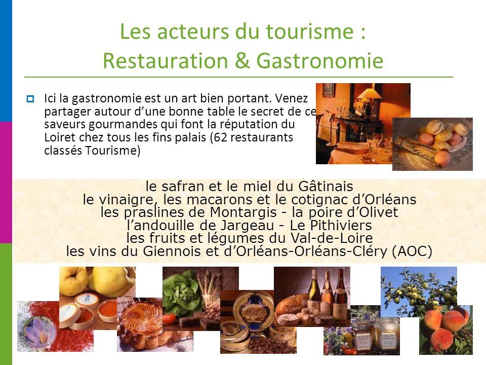 Les acteurs du tourisme : Restauration & Gastronomie Ici la gastronomie est un art bien portant.