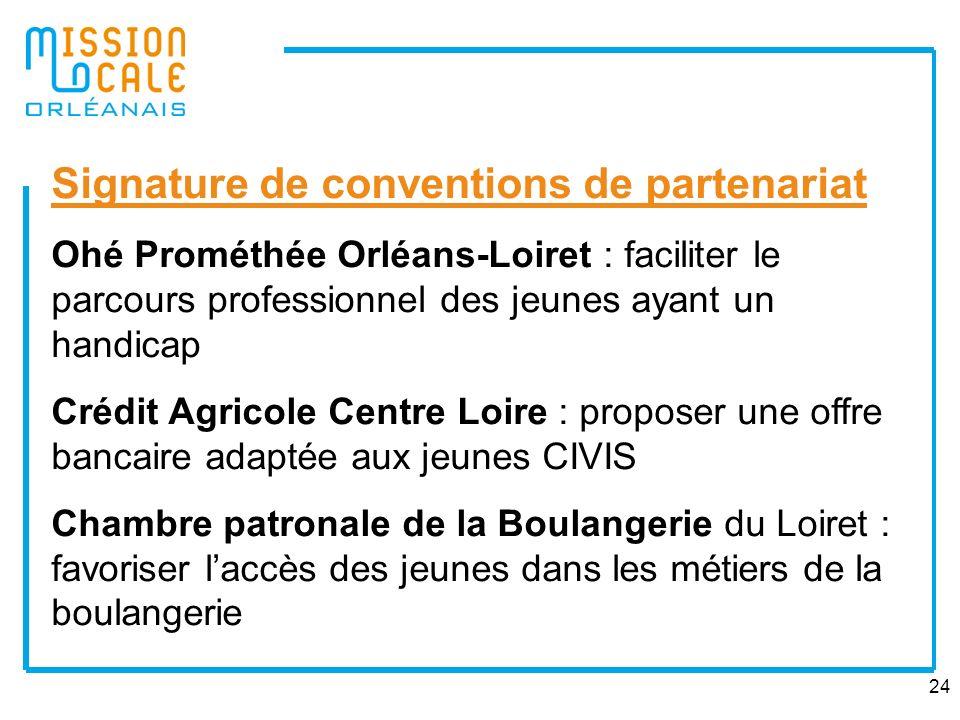 24 Signature de conventions de partenariat Ohé Prométhée Orléans-Loiret : faciliter le parcours professionnel des jeunes ayant un handicap Crédit Agri