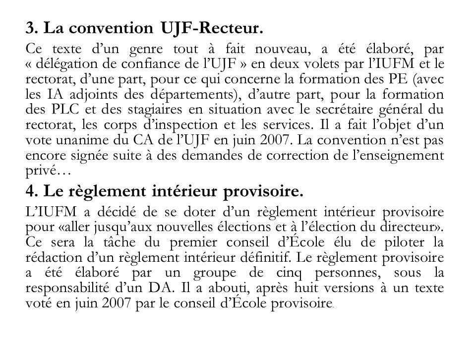 3. La convention UJF-Recteur.