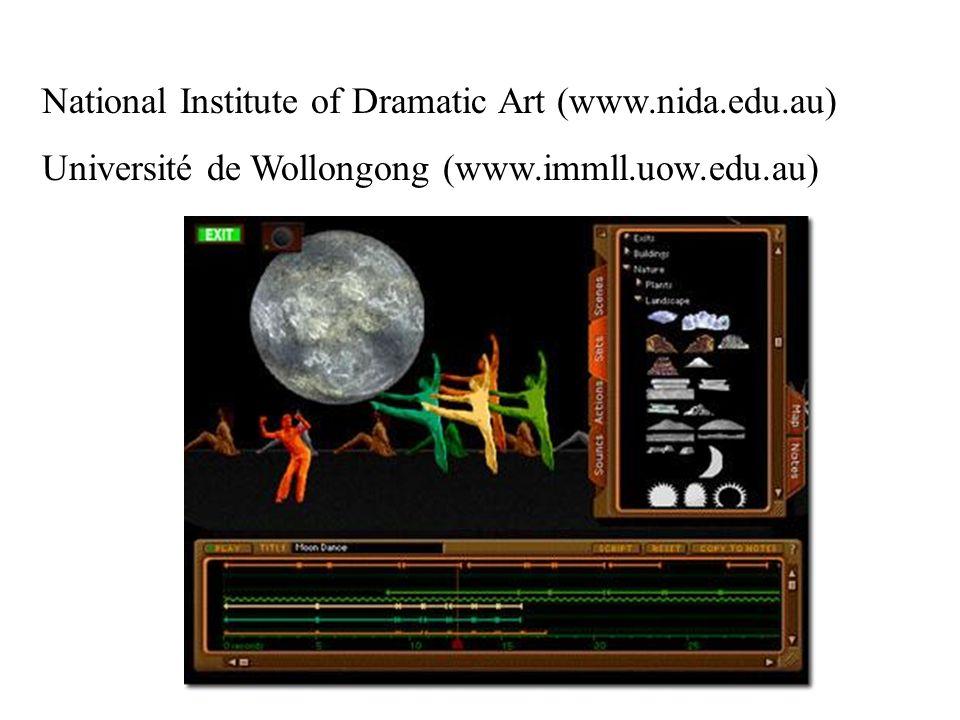 National Institute of Dramatic Art (www.nida.edu.au) Université de Wollongong (www.immll.uow.edu.au)