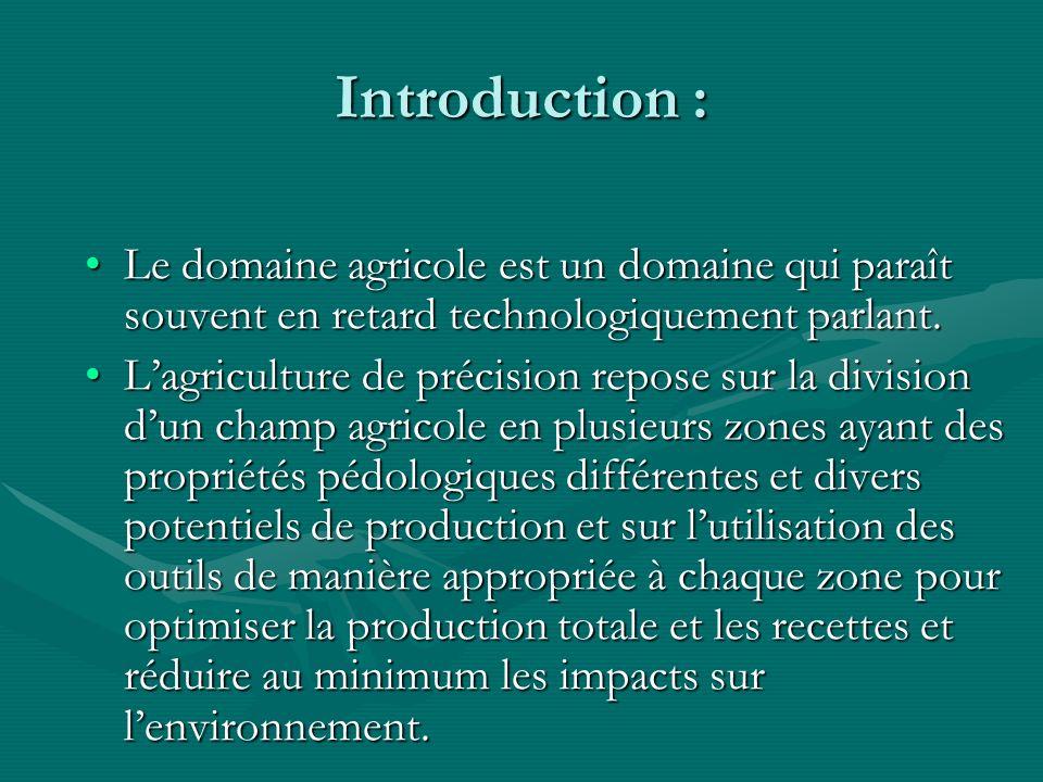 Introduction : Le domaine agricole est un domaine qui paraît souvent en retard technologiquement parlant.Le domaine agricole est un domaine qui paraît