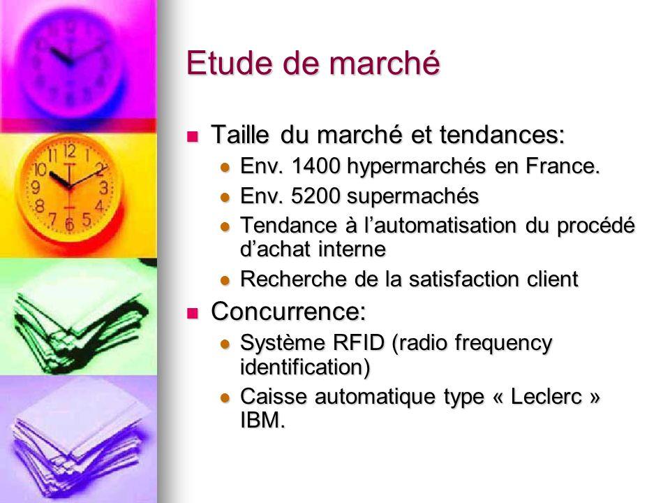 Etude de marché Comparaison des offres: Comparaison des offres: RFID: RFID:Avantages: Technologie nouvelle permettant des fonctionnalités futuristes.