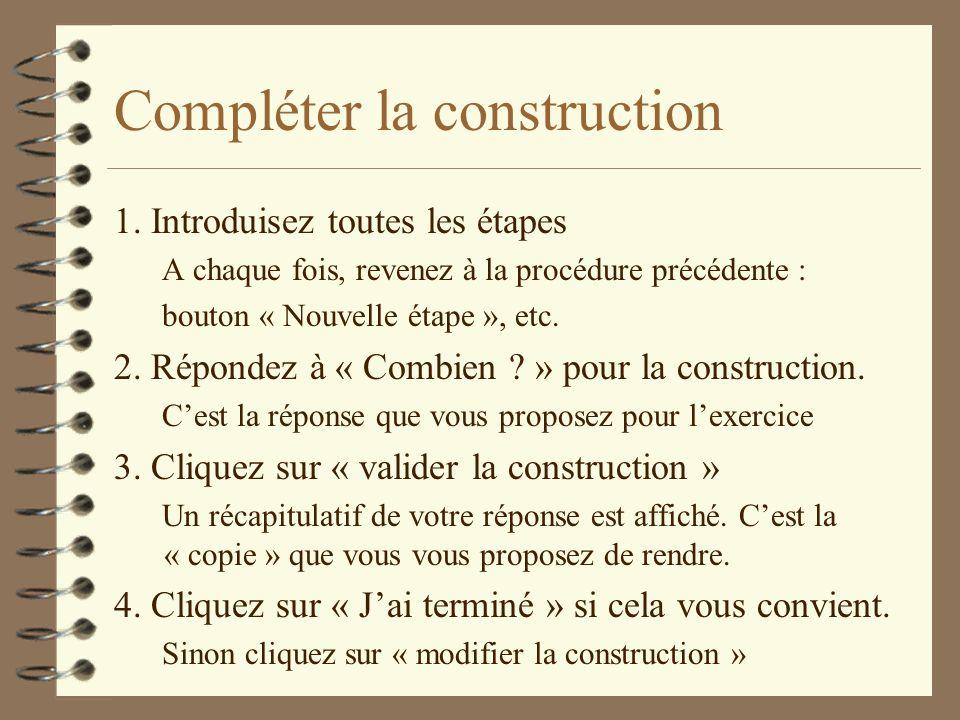 Compléter la construction 1.