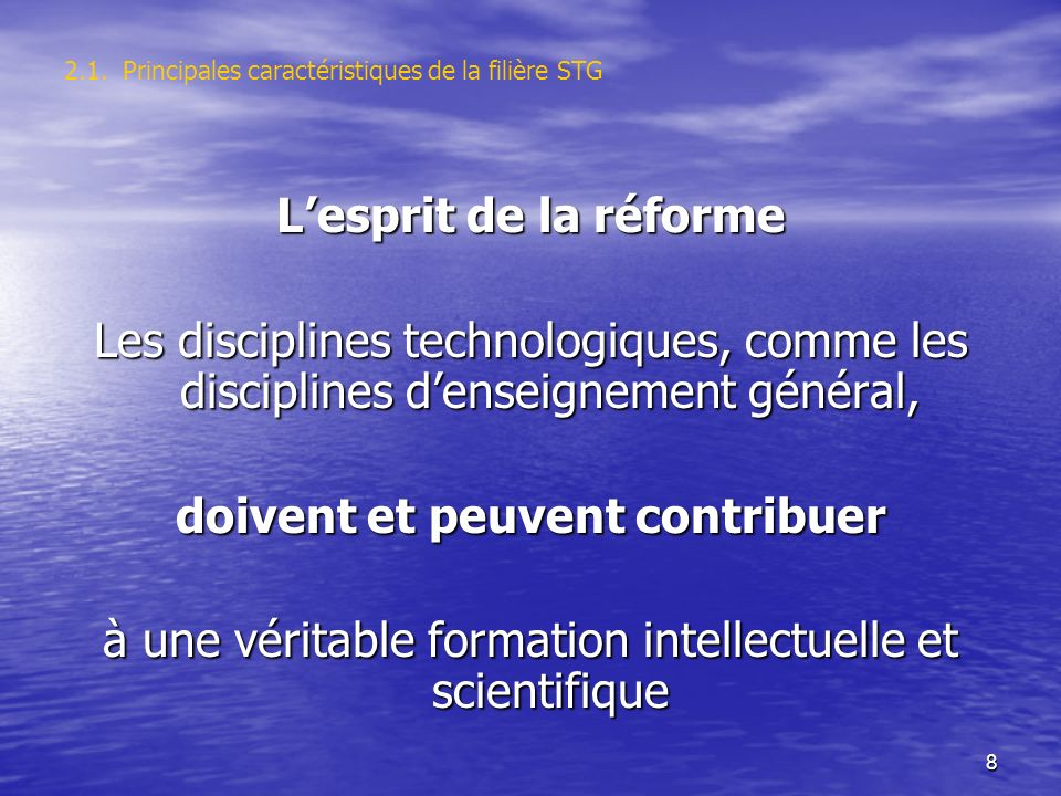 19 3. Les recommandations, intentions et programmes