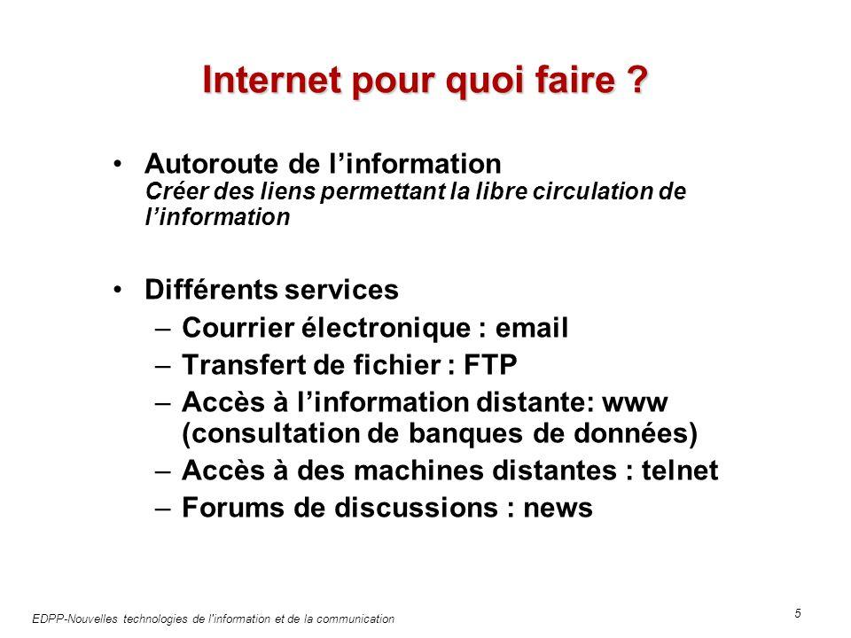 EDPP-Nouvelles technologies de l information et de la communication 5 Internet pour quoi faire .