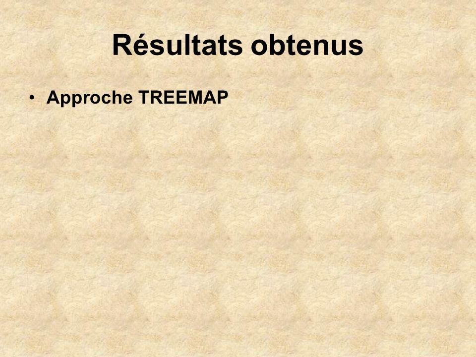 Résultats obtenus Approche TREEMAP