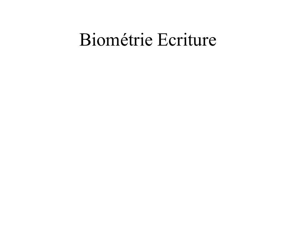 Biométrie Ecriture