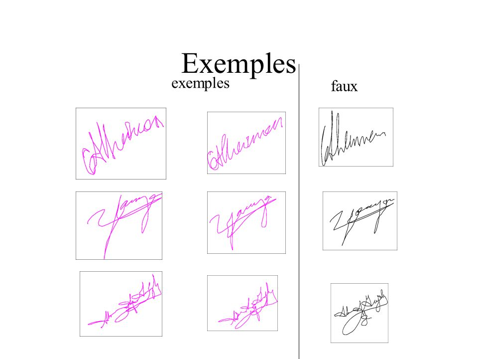 Exemples faux exemples