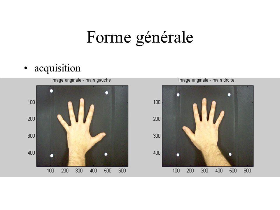 Forme générale acquisition