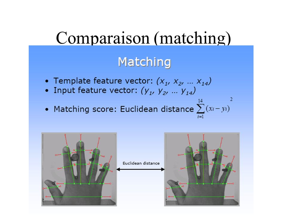 Comparaison (matching)
