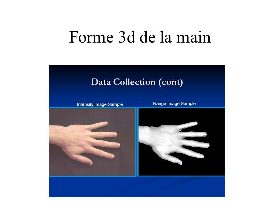Forme 3d de la main