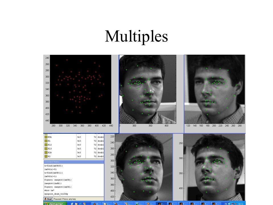 Matching de visages Normalisations radiométriques (illumination) Vecteur de mesures (après corrections géométriques)) Portrait robot Modèles déformables (morphing) « Eigenface » (Analyse en Composantes Principales) Réseaux de neurones