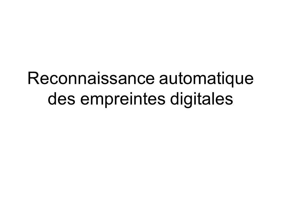 Reconnaissance automatique des empreintes digitales