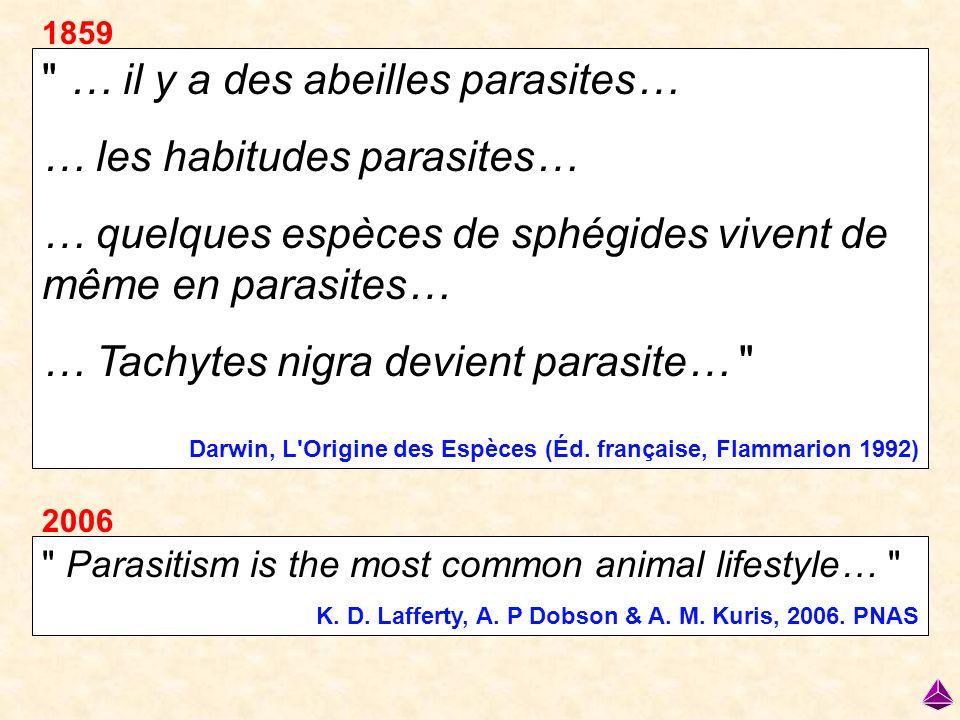 LE PASSAGE DE LA VIE LIBRE AU PARASITISME Si les connaissances de l époque l avaient permis, Darwin se serait penché sur les pressions sélectives impliquées dans…
