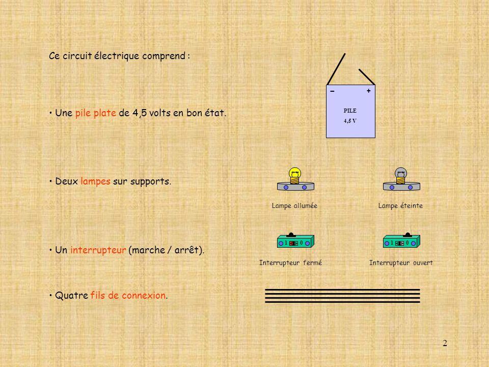 23 10 A Com mA DC A OffOn 10A 2A 200 20 V 2 V AC mA AC V DC 2M 20k 2k 200 0.2 2 200 20 2 0.2 2 20 200 10A 2A 200 20 10 PILE 4,5 V + - Ouvrir le circuit électrique.