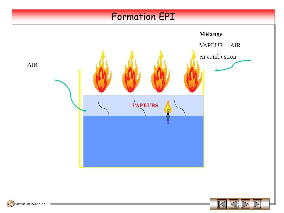 Formation incendie 1 Formation EPI Feux de liquides ou de solides liquéfiables La combustion des liquides ou solides liquéfiables