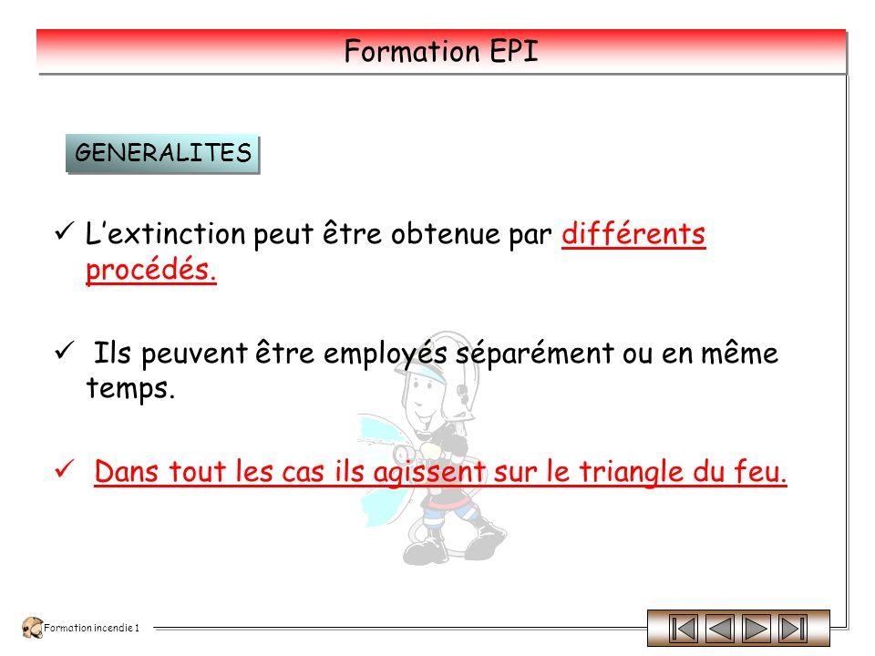INCENDIE FORMATION INCENDIE 1 Les procédés et les techniques dextinction