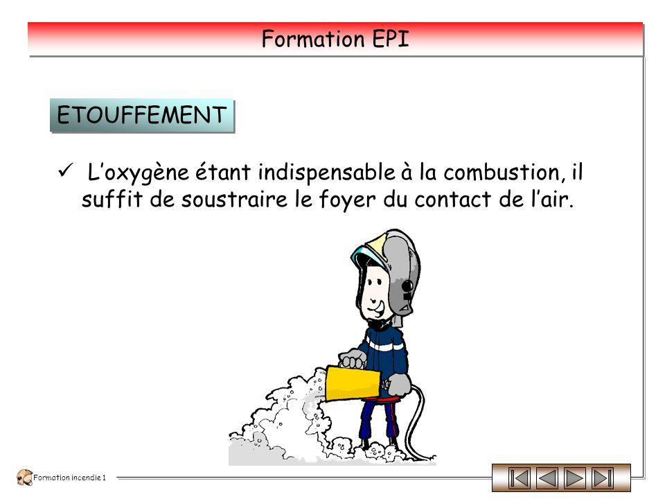 Formation incendie 1 Formation EPI Cette technique est utilisée en particulier pour les feux de puits de pétrole ou de gaz naturel.