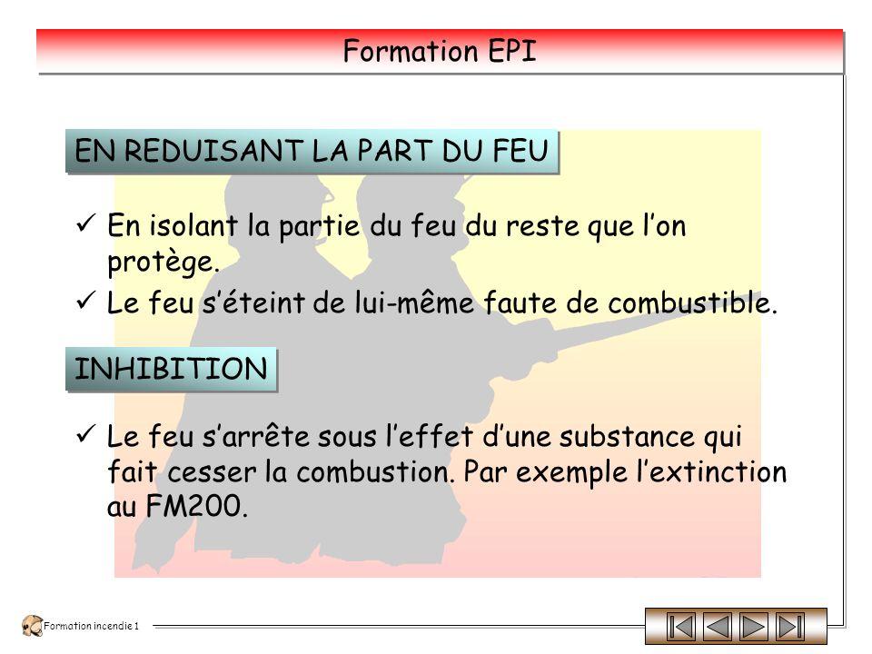Formation incendie 1 Formation EPI Sur les feux électrique cela soustrait la cause du feu et permet de PROTEGER les intervenants.