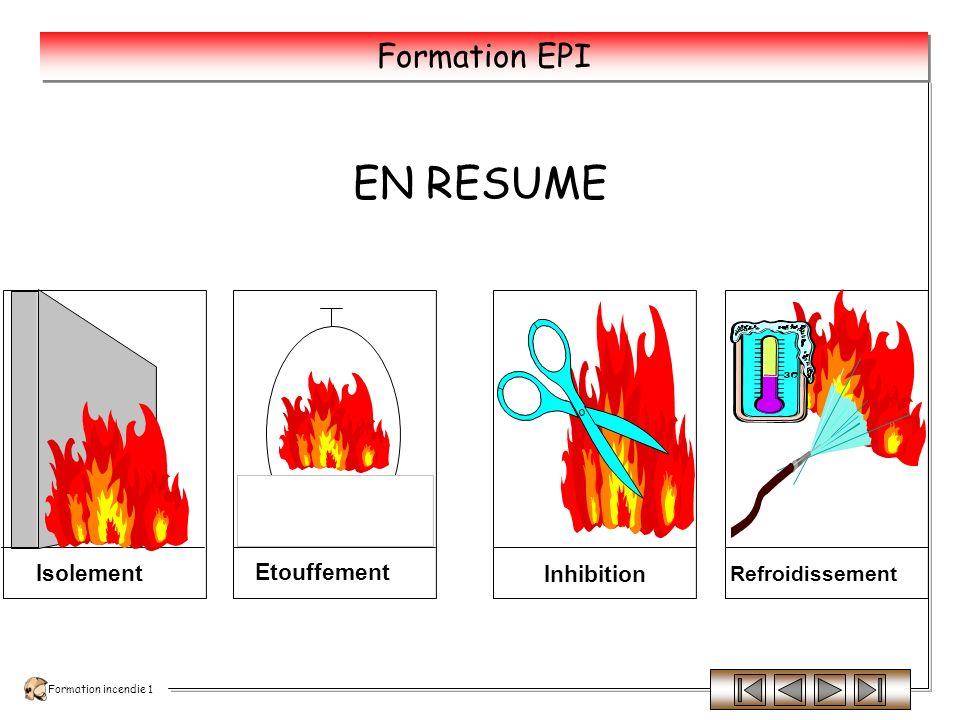 Formation incendie 1 Formation EPI En isolant la partie du feu du reste que lon protège.