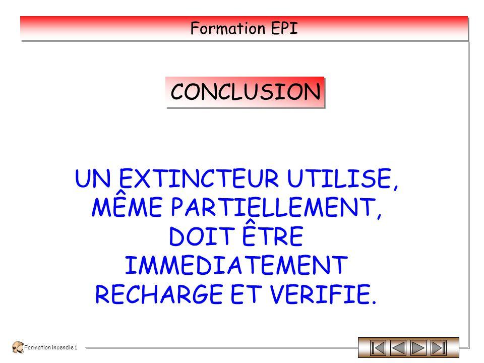 Formation incendie 1 Formation EPI